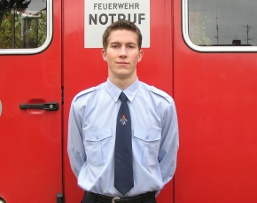 Krawatte mit Feuerwehremblem