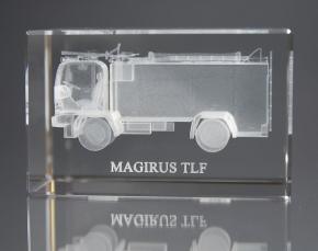 XXL Kristallblock mit 3D Gravur, TLF