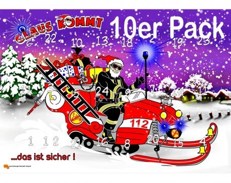 10er Pack CLAUS_Adventskalender,