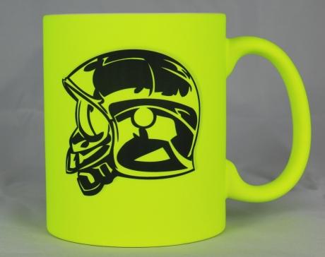 Kaffeebecher Helm, neon