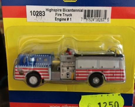 Athearn 10283, Ford C Fire Truck, Highspire/Bicentennial