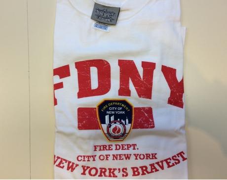 FDNY T-Shirt, weiß Gr. XXL