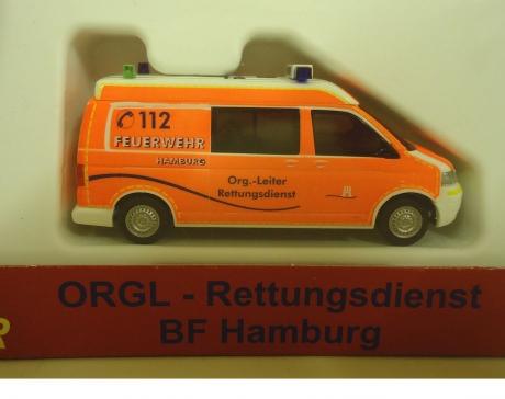 VW T5 LR MD ORGL Rettungsdienst BF Hamburg