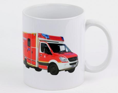 Kaffeebecher Hamburg Rettungswagen