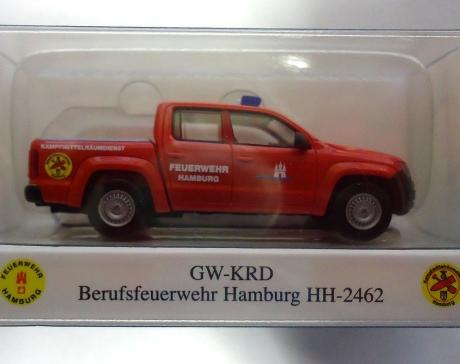 Wiking VW Amarok KMRD Feuerwehr Hamburg HH - 2462