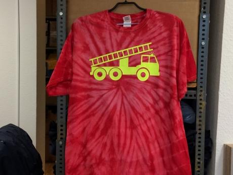 T-Shirt Batik Gr. XL, rot
