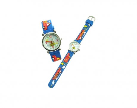 Pacific Time Kinder-Armbanduhr Feuerwehr Auto