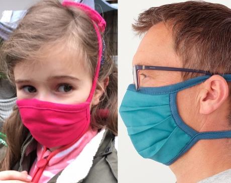 Mund - und Nasenbehelfsmaske