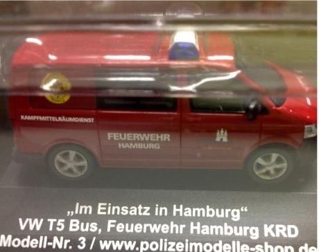 """VW T5 """"HH 2453"""" Feuerwehr Hamburg Kampfmittelräumdienst"""