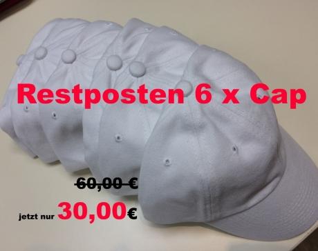 Restposten 6 x hochwertiges Basecap