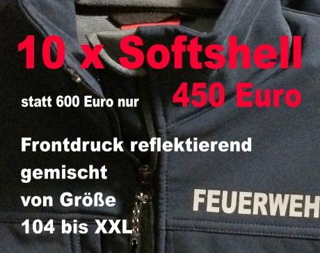10 x Feuerwehr Softshell