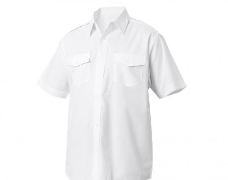 Diensthemd 1-2 Arm, Größe 41-42, weiß