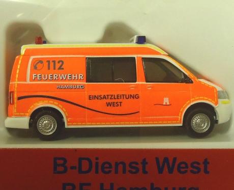 VW T5 LR MD ELW West Feuerwehr Hamburg
