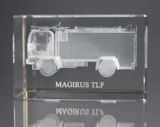 Kristallblock mit 3D Gravur, TLF
